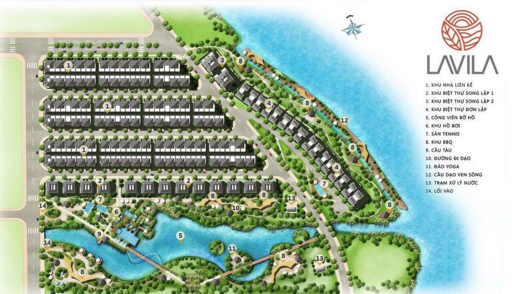 Bán biệt thự Lavila kiền kề Phú Mỹ Hưng, diện tích 5.5x17.5m, giá 5.5 tỷ